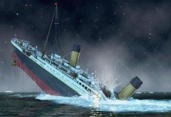 Titanic gemisinin batış anı