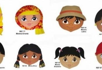 Ülke çocukları maskeleri