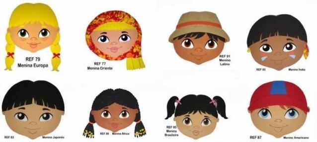 Ülke çocukları maskeleri İlginç Tasarımlar  ocuklar maskeleri