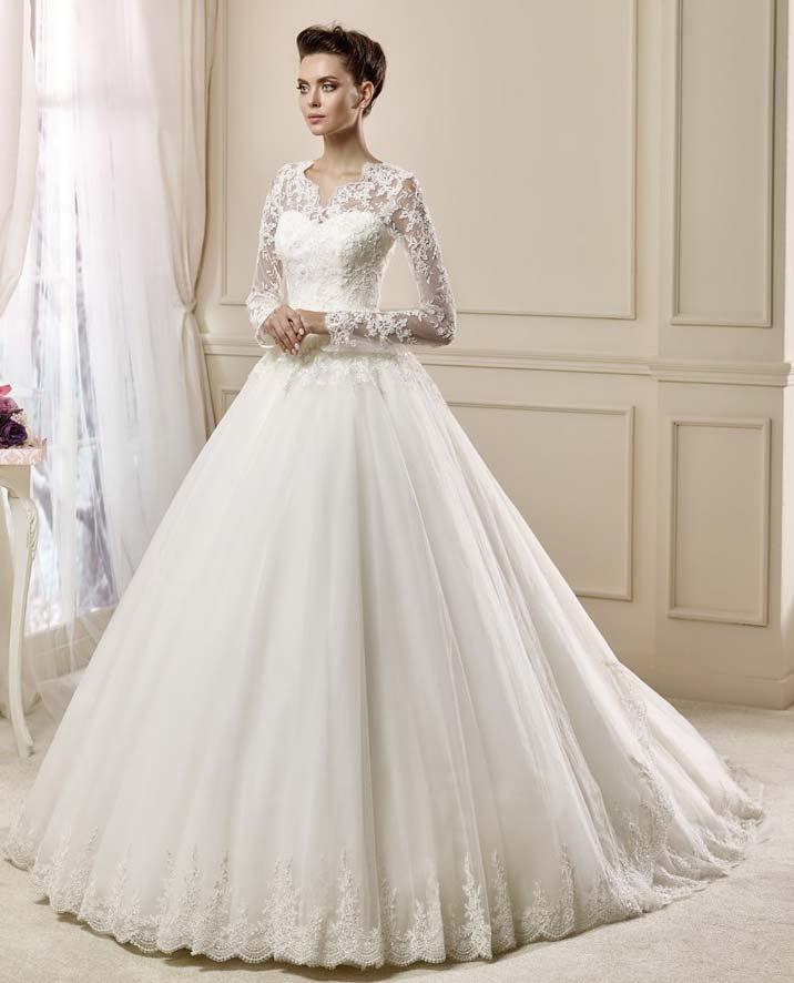 dc32fa63e2d7b 2019 Şık Gelinlik Modelleri Kadın Giyim şık gelinlikler sade gelinlikler  prenses model gelinlik kabarık model gelinlikler ...