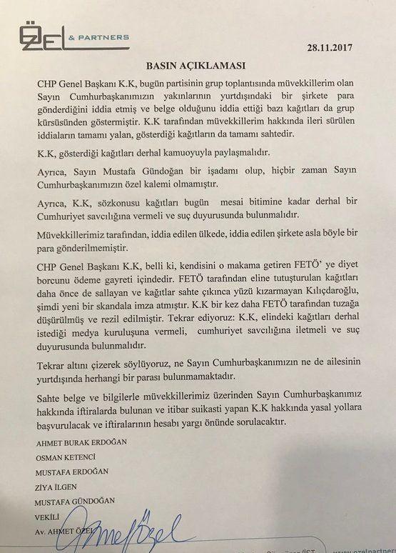 Erdoğan'ın avukatı açıkladı ! Haber  avukat
